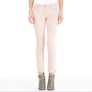 Rachel Roy Ankle Zip Striped Skinny Jeans